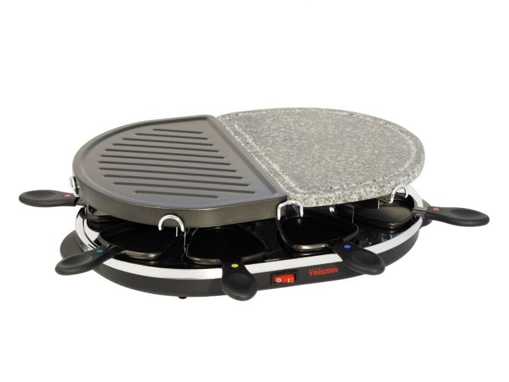 Tristar raclette/grill in pietra ollare
